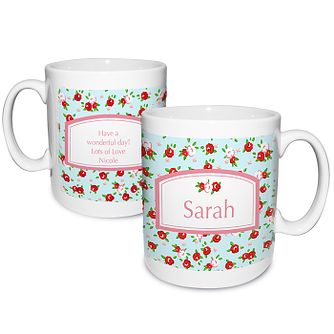 Personalised Vintage Floral Mug - Product number 1434896
