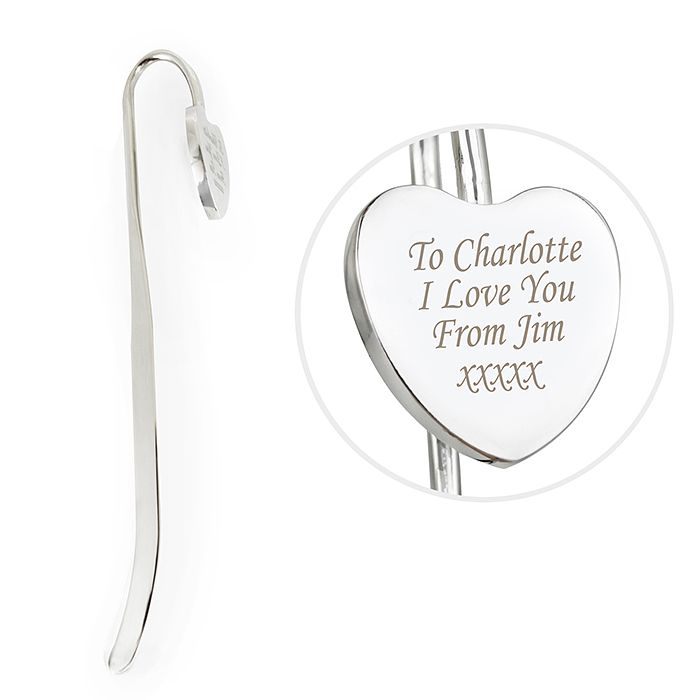 Engraved Silver Heart Bookmark - Product number 1434993
