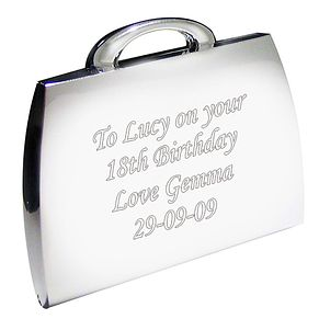 Engraved Handbag Compact Mirror - Product number 1435078