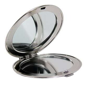 Engraved Silver Round Compact Mirror - Product number 1435086