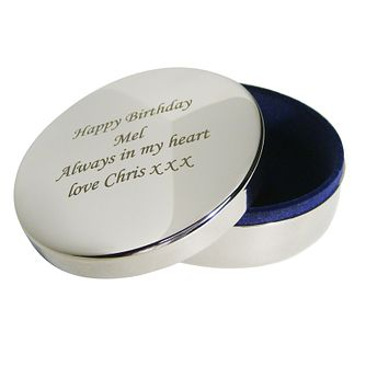 Engraved Round Trinket Box - Product number 1435124