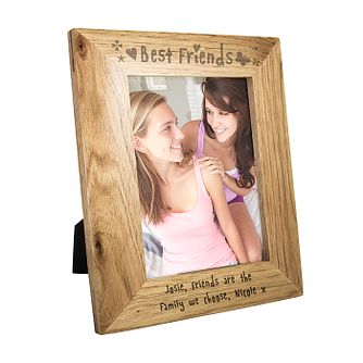 Personalised Best Friends 7x5 Oak Photograph Frame - Product number 1435221