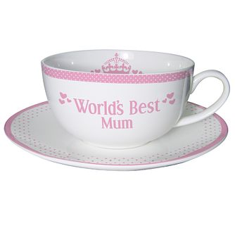 Personalised Pink World's Best Teacup And Saucer - Product number 1435272