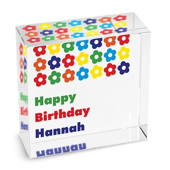 Personalised Bright Flowers Crystal Token - Product number 1438026