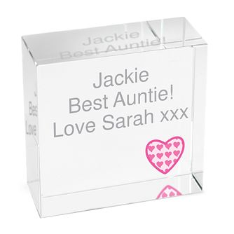 Personalised Heart Pink Crystal Token - Product number 1438034