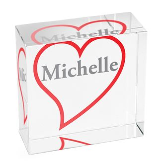 Personalised Big Red Heart Crystal Token - Product number 1438069
