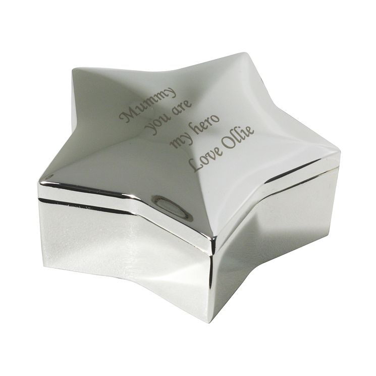 Engraved Star Trinket Box - Product number 1438174