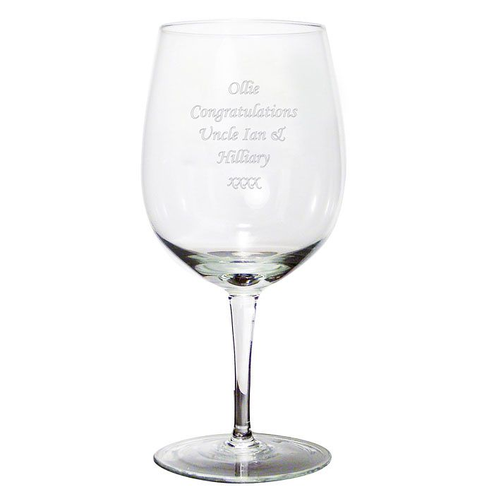 Engraved Bottle Of Wine Glass - Product number 1438190
