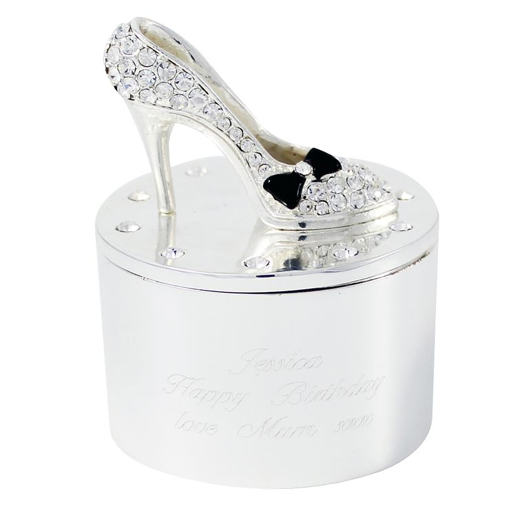 Engraved Shoe Trinket Box - Product number 1438220