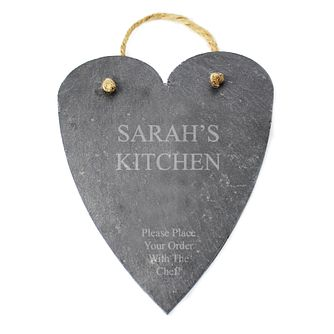 Engraved Large Slate Heart - Product number 1438239