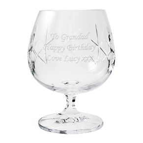 Engraved Small Crystal Brandy Glass - Product number 1438255
