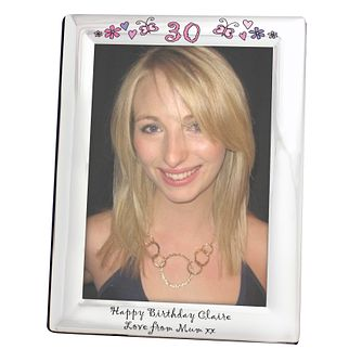 Personalised Floral Butterfly Age Silver 5x7 Frame - Product number 1438344