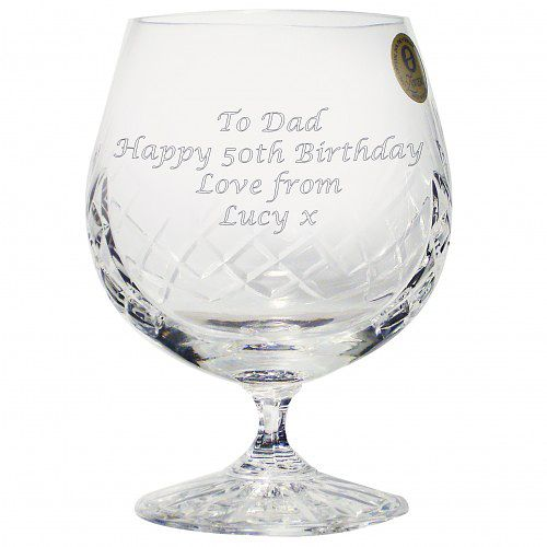 Engraved Large Crystal Brandy Glass - Product number 1438611