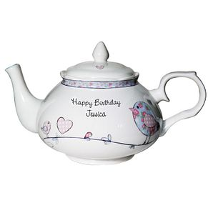 Personalised Floral Bird Tea Pot - Product number 1438670