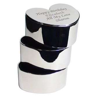 Engraved 3 Tier Heart Trinket Box - Product number 1438743