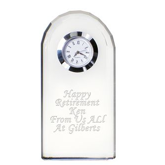 Engraved Crystal Clock - Product number 1438808