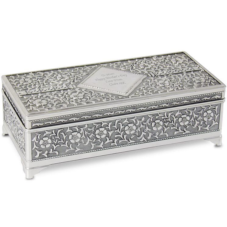 Engraved Large Antique Jewellery Box - Product number 1438859