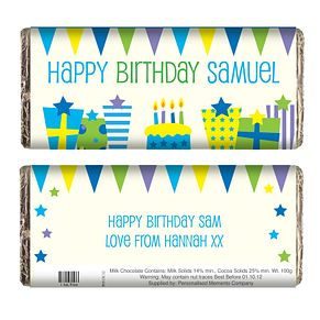 Personalised Birthday Presents Chocolate Bar - Product number 1438948