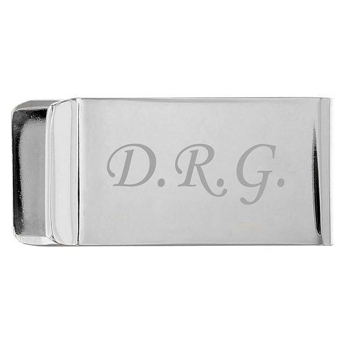 Engraved Silver Plated Money Clip - Product number 1439138