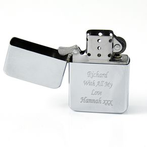 Engraved Silver Lighter - Product number 1439170