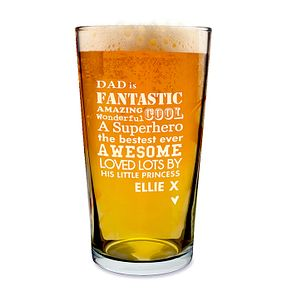 Engraved He is Pint Glass - Product number 1439227