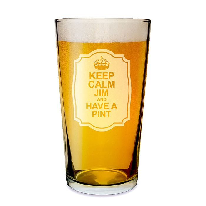 Engraved Keep Calm Pint Glass - Product number 1439294
