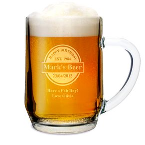 Engraved Beer Label Tankard - Product number 1439332