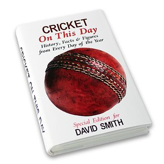 Personalised Cricket On This Day Book - Product number 1440047