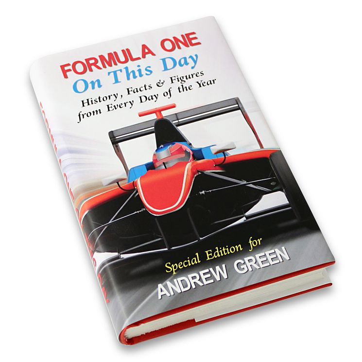 Personalised Formula 1 On This Day Book - Product number 1440055