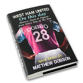 Personalised West Ham On This Day Book - Product number 1440136