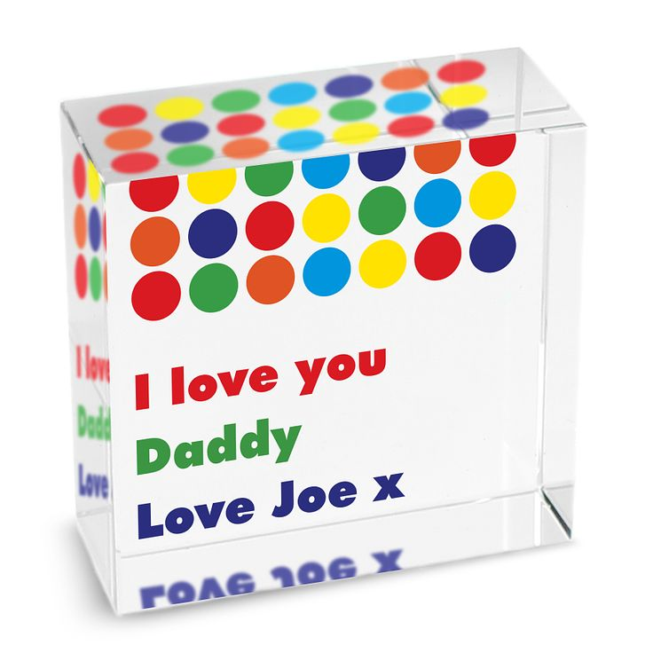 Personalised Spots Bright Medium Crystal Token - Product number 1440152