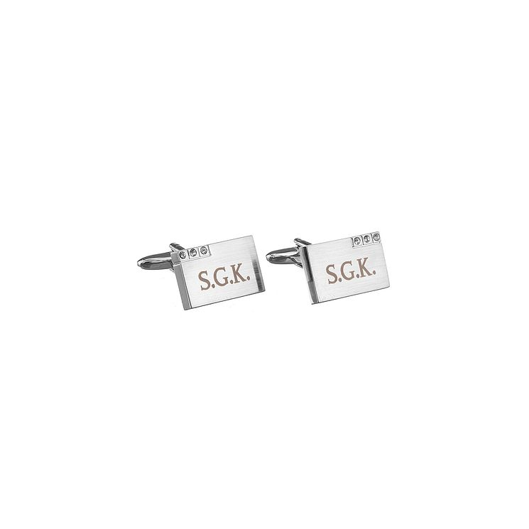 Engraved Diamante Cufflinks - Product number 1440284