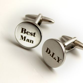 Engraved Best Man Cufflinks - Product number 1440365