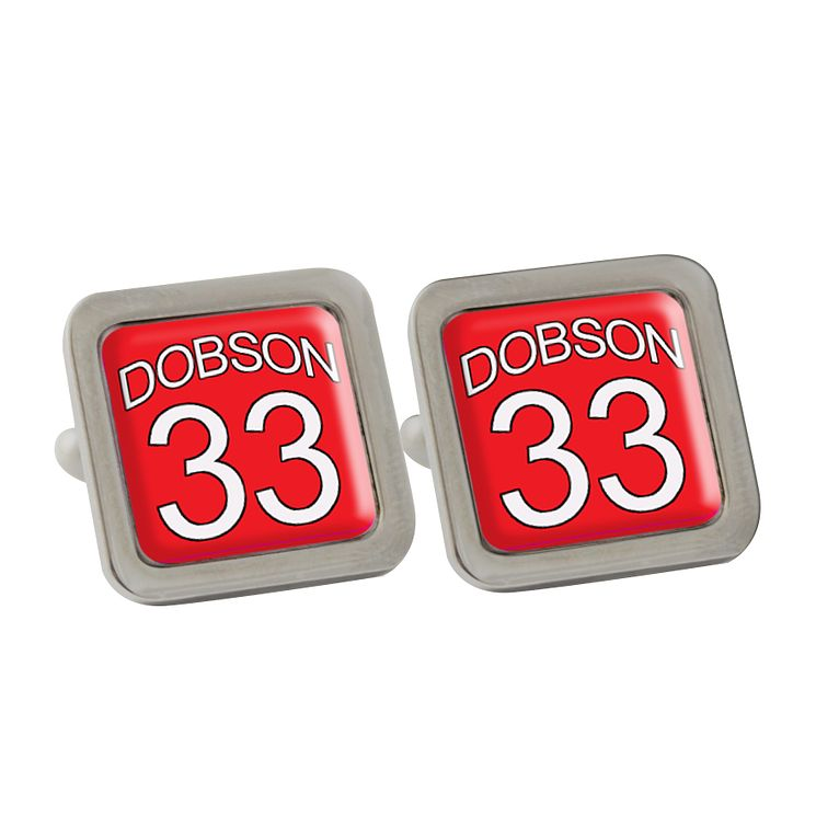 Personalised Red Football Shirt Cufflinks - Product number 1440586