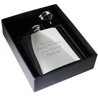 Engraved Stainless Hip Flask - Product number 1440667