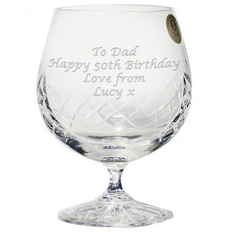 Engraved Large Crystal Brandy Glass - Product number 1440748