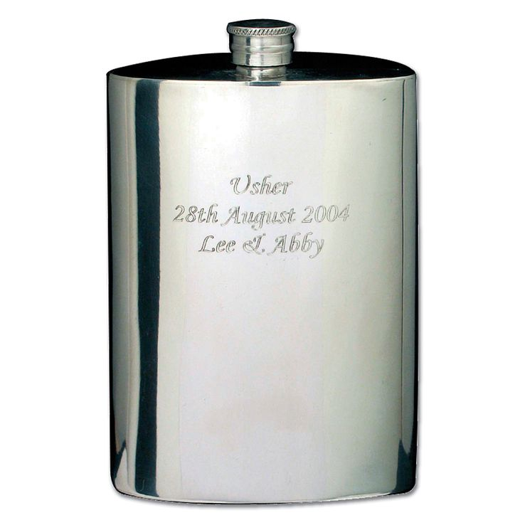 Engraved Pewter 4oz Hipflask - Product number 1441000