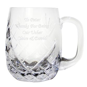 Engraved Crystal Pint Rounded Tankard - Product number 1441086