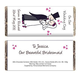 Personalised Cartoon Wedding Chocolate Bar - Product number 1441124