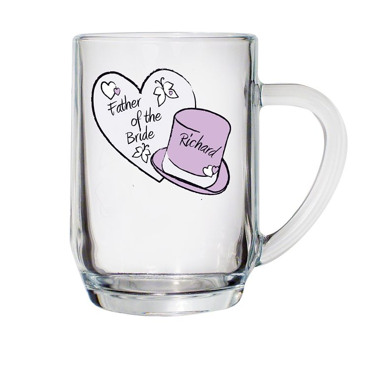 Personalised Hearts And Hats Butterfly Tankard - Product number 1441264
