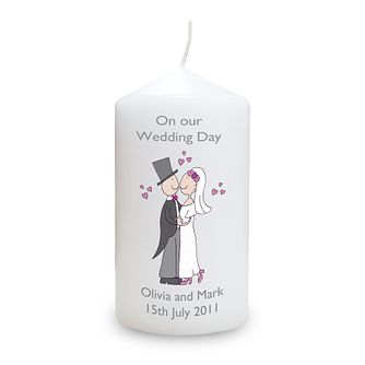 Personalised Cartoon Couple Candle - Product number 1441477