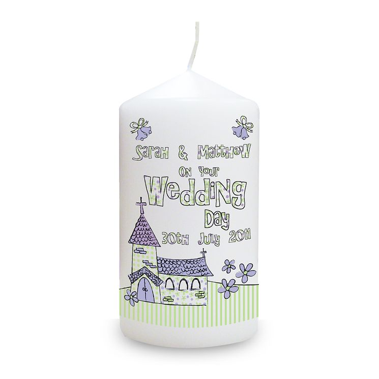 Personalised Wedding Church Candle - Product number 1441493