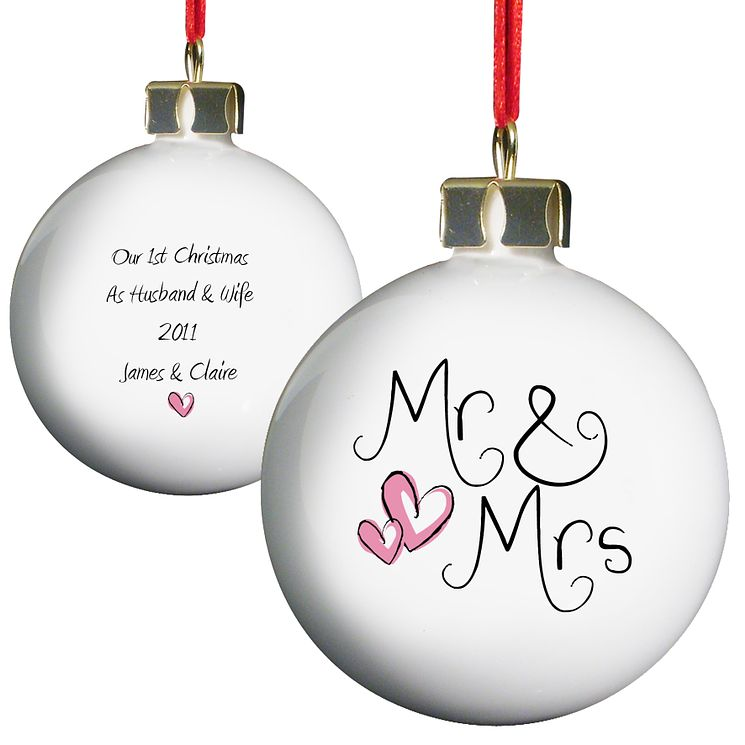 Personalised Mr And Mrs Bauble - Product number 1441523