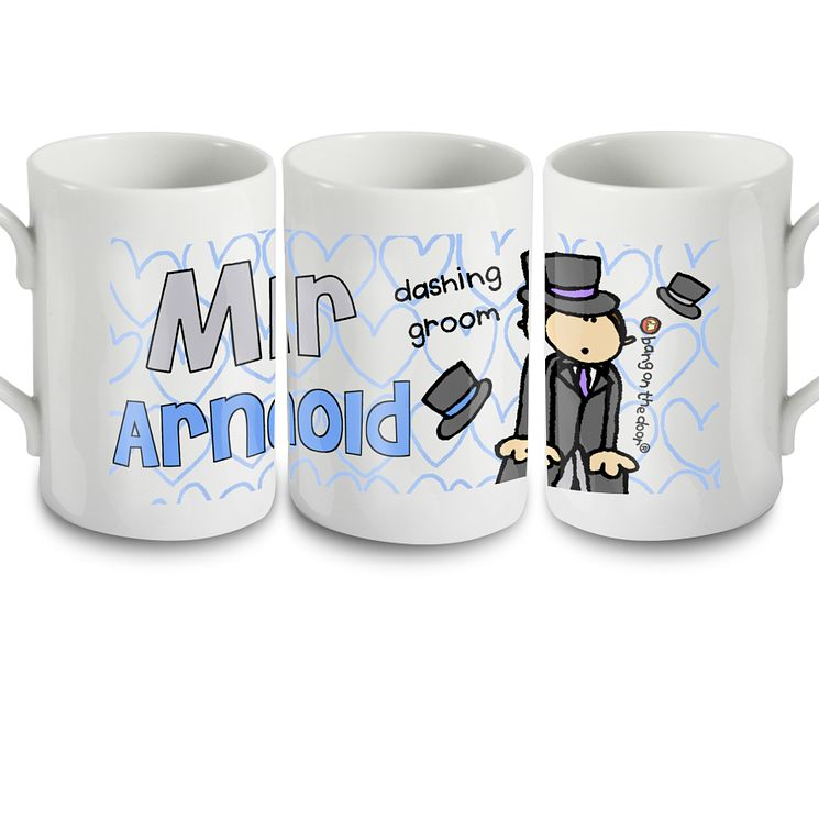 Personalised Bang On The Door Wedding Groom Mug
