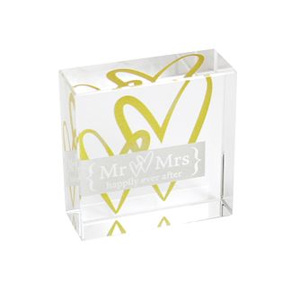 Personalised Golden Hearts Crystal Token - Product number 1441841
