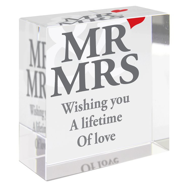 Personalised Mr And Mrs Wedding Token - Product number 1442058