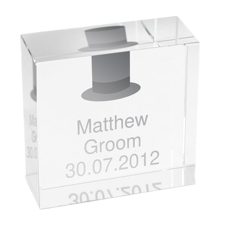 Personalised Wedding Top Hat Token - Product number 1442066