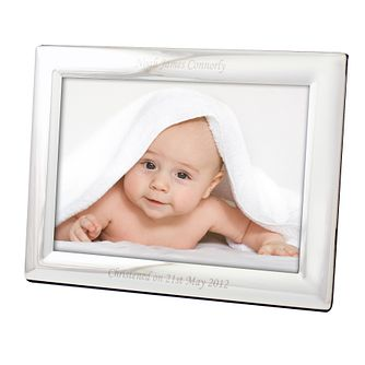 Engraved 5x7 Landscape Silver Photograph Frame - Product number 1442104