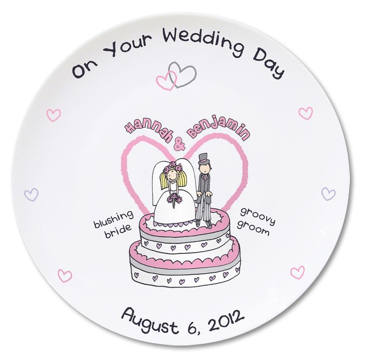 Personalised Bang On The Door Wedding Plate - Product number 1442163