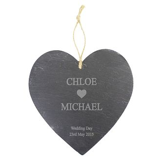 Engraved Heart Motif Slate Heart - Product number 1442716
